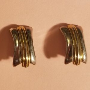 Givenchy silver/gold toned earrings clip on